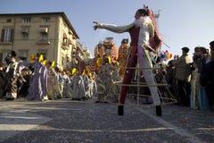Viareggio的狂欢节 图库摄影