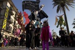 Viareggio的狂欢节 库存照片