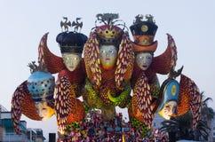 Viareggio,狂欢节前次游行2013年 免版税库存照片