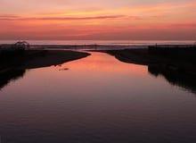 viareggio της Τοσκάνης ηλιοβασι Στοκ Φωτογραφίες