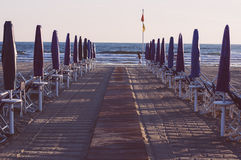 Viareggio Beach, Italy, Tuscany stock photo