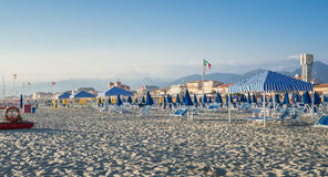 Viareggio beach, Tuscany, Italy. royalty free stock images