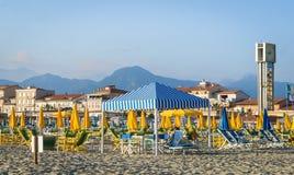 Viareggio beach, Tuscany, Italy. Royalty Free Stock Photos