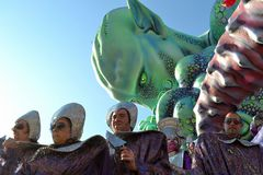 Viareggio carnival carnevale. A particular of a carnival float. Viareggio Carnival  (carnevale di Viareggio) , one of the most important carnival parade in Italy Stock Images