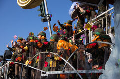 Viareggio,carnival last parade of 2013 Stock Images