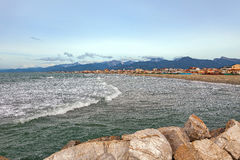 Viareggio. Is a city and comune in northern Tuscany, Italy, on the coast of the Tyrrhenian Sea stock image