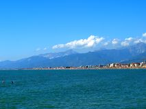 Viareggio coast Royalty Free Stock Images