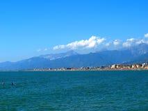 Viareggio coast. A beautiful landscape of Viareggio coast in Tuscany royalty free stock images