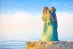 Viareggio coast, symbol of family and marriage Stock Photo