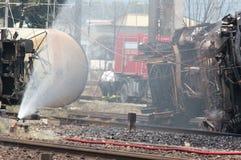 viareggio de train de l'Italie de désastre Photo stock