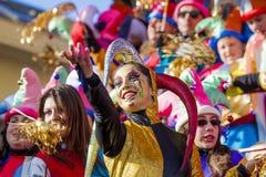 Karneval av Viareggio arkivbilder