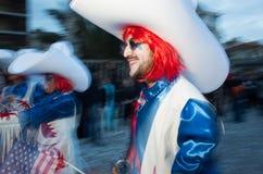 Viareggio, first parade of carnival,Italy Stock Image