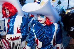 Viareggio, first parade of carnival,Italy Royalty Free Stock Photography