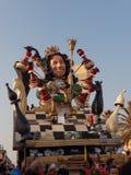 VIAREGGIO, ITÁLIA - 19 DE FEVEREIRO: parada da biga alegórica Fotos de Stock Royalty Free