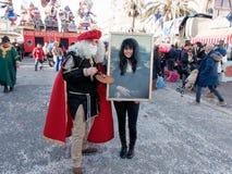 VIAREGGIO, ITALIË - FEBRUARI 23:   allegorische vlotter van Beppe Gri Royalty-vrije Stock Afbeelding