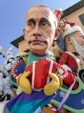 VIAREGGIO, ITALIA - 23 DE FEBRERO: máscara alegórica de las RRPP rusas Foto de archivo libre de regalías