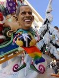 VIAREGGIO, ITALIA - 23 DE FEBRERO: máscara alegórica del presid de los E.E.U.U. Foto de archivo libre de regalías