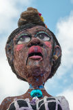 VIAREGGIO, ITALIA - 17 febbraio 2013 - parata di manifestazione di carnevale sulla via della città Fotografia Stock Libera da Diritti