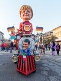 VIAREGGIO, ITALIA - 12 marzo: galleggiante allegorico a Viareggio C Immagine Stock Libera da Diritti
