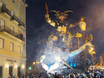 VIAREGGIO, ITALIA - 12 marzo: galleggiante allegorico a Viareggio C Fotografia Stock