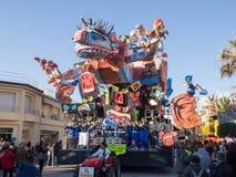 VIAREGGIO, ITALIE - 2 FÉVRIER : flotteur allégorique chez Viareggio Photographie stock libre de droits