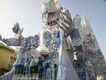 VIAREGGIO ITALIEN - FEBRUARI 19: allegorical flöte på politen Royaltyfri Foto