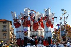 VIAREGGIO ITALIEN - FEBRUARI 19:   allegorical flöte av den främsta minuten Royaltyfri Fotografi