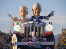 VIAREGGIO, ITALY - FEBRUARY 2:   allegorical float about economi Stock Photo