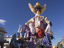 VIAREGGIO, ITALY - FEBRUARY 2:   allegorical float  on the issue Royalty Free Stock Images