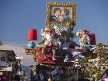 VIAREGGIO, ITALY - FEBRUARY 2:   allegorical float about the wor Royalty Free Stock Image
