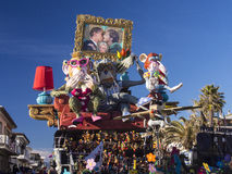 VIAREGGIO, ITALY - FEBRUARY 2:   allegorical float about the wor Stock Photos