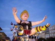 VIAREGGIO, ITALY - FEBRUARY 2:   allegorical float of Angela Mer Royalty Free Stock Photography