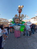 VIAREGGIO, ITALY - FEBRUARY 23:   allegorical float of Beppe Gri Royalty Free Stock Photography