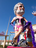 VIAREGGIO, ITALY - FEBRUARY 2:   allegorical float of Beppe Gril Royalty Free Stock Photography