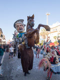 VIAREGGIO, ITALY - FEBRUARY 2:   allegorical float of Beppe Gril Royalty Free Stock Images