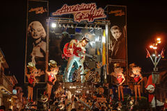 VIAREGGIO, ITALY - FEBRUARY 20:   allegorical float of Elvis Pre Stock Photos