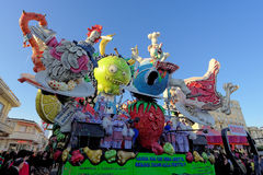 VIAREGGIO, ITALY - FEBRUARY 20:   allegorical float of exploitat Stock Photos