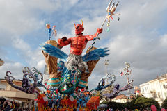 VIAREGGIO, ITALY - FEBRUARY 20:   allegorical float of football Royalty Free Stock Photography