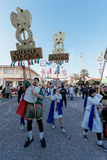 VIAREGGIO, ITALY - FEBRUARY 20:   allegorical float in honor of Royalty Free Stock Image