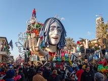 VIAREGGIO, ITALY - FEBRUARY 23:   allegorical float of John Lenn Royalty Free Stock Images