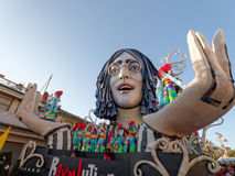 VIAREGGIO, ITALY - FEBRUARY 23:   allegorical float of John Lenn Royalty Free Stock Photo