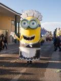 VIAREGGIO, ITALY - FEBRUARY 2:   allegorical float of minions at Royalty Free Stock Photos