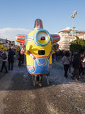 VIAREGGIO, ITALY - FEBRUARY 2:   allegorical float of minions at Stock Photos