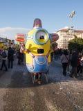 VIAREGGIO, ITALY - FEBRUARY 2:   allegorical float of minions at Stock Photos