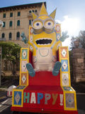 VIAREGGIO, ITALY - FEBRUARY 2:   allegorical float of minions at Stock Image