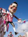 VIAREGGIO, ITALY - FEBRUARY 2: allegorical float of Mr Berlusc. Oni at Viareggio Carnival held February 2, 2015 stock photography