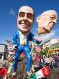 VIAREGGIO, ITALY - FEBRUARY 2: allegorical float of Mr Berlusc. Oni at Viareggio Carnival held February 2, 2015 stock image