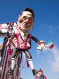 VIAREGGIO, ITALY - FEBRUARY 2: allegorical float of Mr Berlusconi. At Viareggio Carnival held February 2, 2015 royalty free stock photo