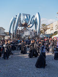 VIAREGGIO, ITALY - FEBRUARY 23:   allegorical float of the net a Stock Photography