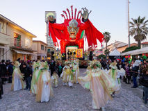 VIAREGGIO, ITALY - FEBRUARY 23:   allegorical float of the net a Stock Photos